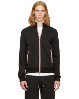Black Maglia Zip-up Sweatshirt
