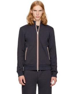 Navy Maglia Zip-up Sweatshirt