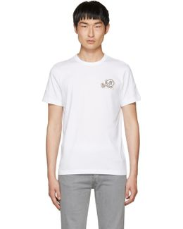 White Double Logo Patch T-shirt