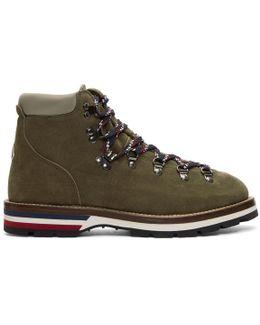 Green Suede Peak Boots