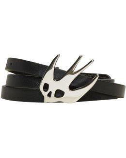 Black Swallow Triple Wrap Bracelet