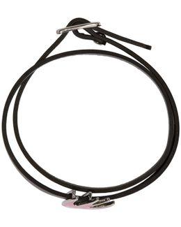Black Swallow Mini Wrap Bracelet