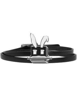 Black Electro Bunny Mini Wrap Bracelet