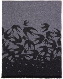 Grey Swallow Dégradé Scarf