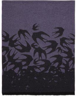 Purple Swallow Dégradé Scarf