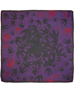 Purple Swallow Swarm Scarf