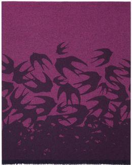 Indigo & Pink Swallow Dégradé Scarf