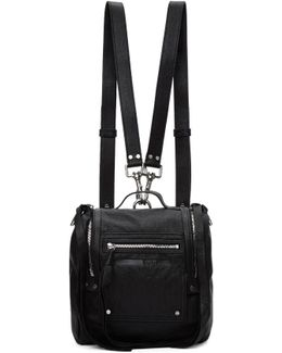 Black Mini Convertible Box Backpack