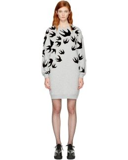 Grey Swallows Sweatshirt Dress
