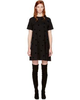 Black Micro Swallow Babydoll T-shirt Dress
