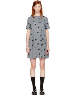 Grey Micro Swallow Babydoll T-shirt Dress