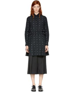 Black Swallow Shirt Dress