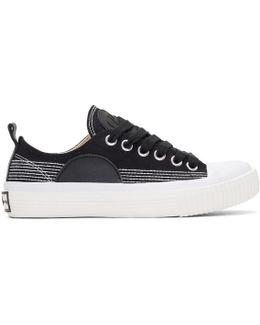 Black Swallow Plimsoll Sneakers