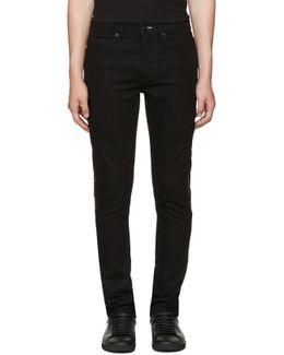 Black Zip Strummer Jeans