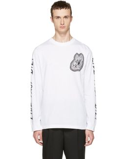 White Long Sleeve 'live Fast Die' T-shirt