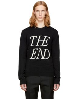 Black 'the End' Sweater