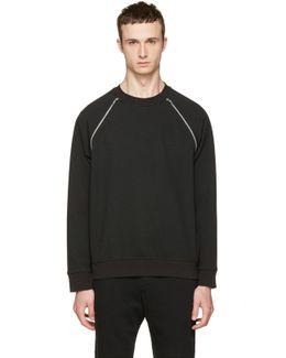Black Mix Zip Sweatshirt