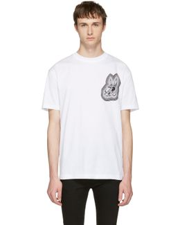 White 'bunny Be Here Now' T-shirt