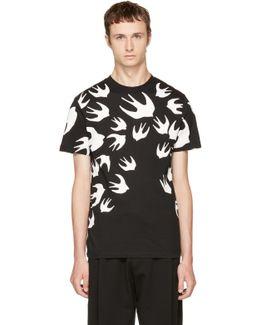 Black & White Swallows T-shirt