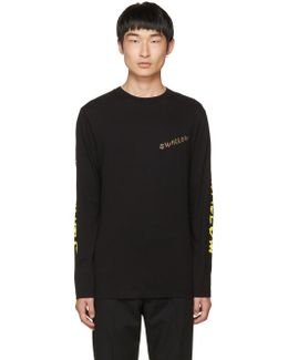Black Long Sleeve 'swallow' T-shirt