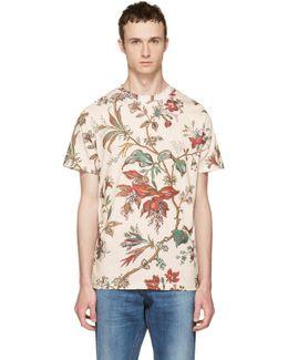 Beige Floral T-shirt