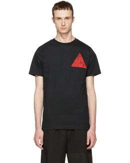 Black Floral Double Triangle T-shirt