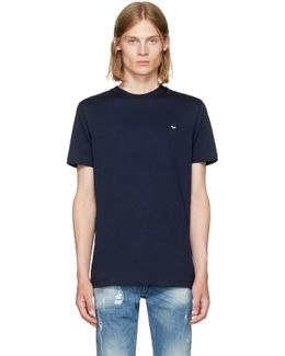 Navy Swallow Patch T-shirt
