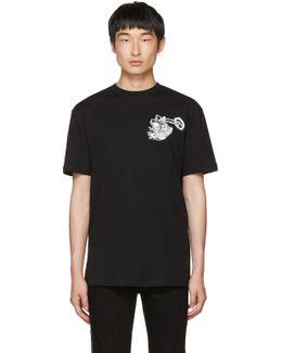 Black Dropped Shoulder Graveyard Bunny T-shirt