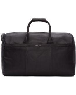 Black Leather Lavonen Duffle Bag