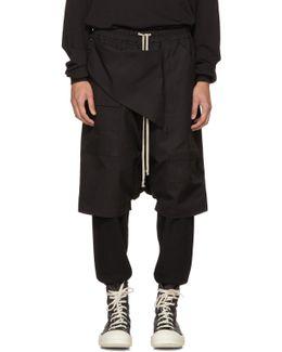 Black Cotton Memphis Pods Shorts