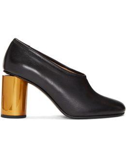 Black & Brass Amy Heels