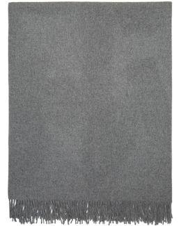 Grey Apolo Fringe Wrap Scarf