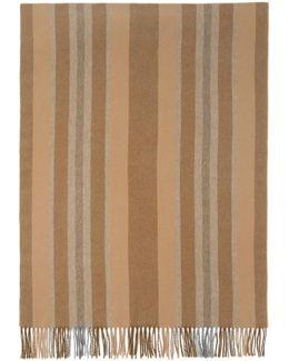 Brown Striped Canada Scarf