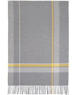 Grey Check Cesar Blanket Scarf