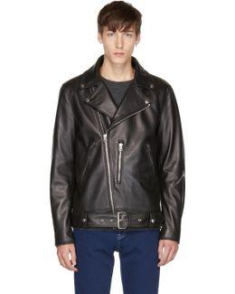 Black Leather Nate Jacket