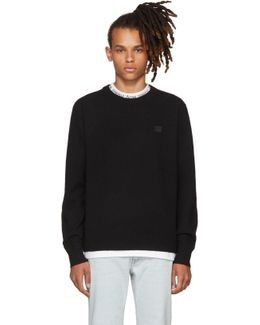 Black Nalon Face Sweater