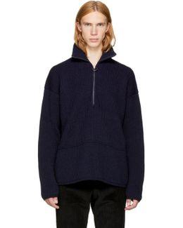 Navy Wool Neptune Sweater