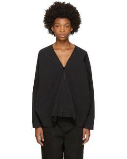Black 2-layer Hooded Jacket