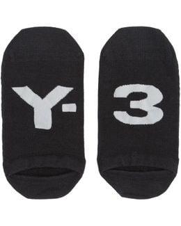 Black Logo Invisible Socks