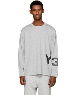 Grey Long Sleeve Classic Logo T-shirt
