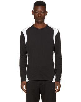 Black & White Long Sleeve Three-stripes T-shirt