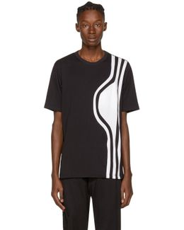 Black 3-stripes T-shirt