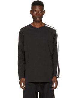 Black Long Sleeve Three-stripes T-shirt