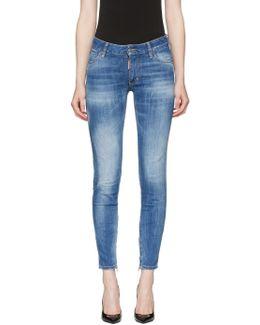 Blue Medium Waist Skinny Jeans