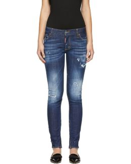 Indigo Sprinkle Wash Skinny Jeans