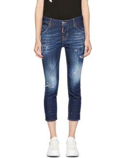 Indigo Cool Girl Crop Jeans