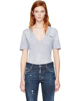 Grey V-neck Renny T-shirt