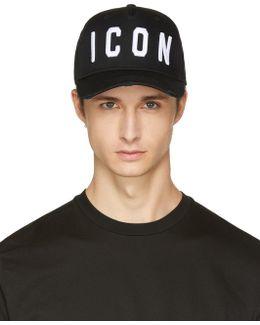 Black 'icon' Cap