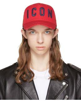 Red 'icon' Cap