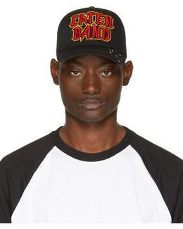 Black 'caten Band' Baseball Cap